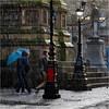 Yet More Rain (Fermat48) Tags: albertsquare manchester rain umbrella pedestrian wet walkers lamppost pigeon streetlamps canon camera eos7d markii mark2 ef24105mmf4lisusm
