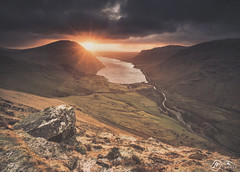 Wast Water from Lingmell (►►M J Turner Photography ◄◄) Tags: lingmell wastwater wasdale lakedistrict cumbria england uk unitedkingdom sunset landscape unesco worldheritagesite unescoworldheritagesite nationalpark lakedistrictnationalpark nationaltrust