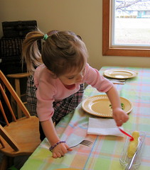 Off With the Bow! (genesee_metcalfs) Tags: granddaughter family easter dinner butter lamb