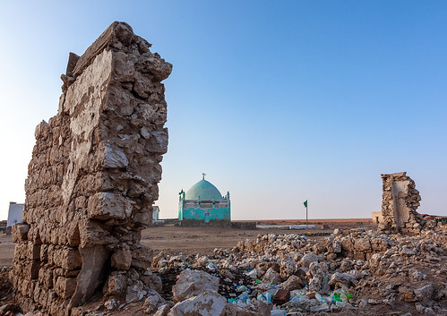 Old muslim grave with painted walls, Awdal region, Zeila, Somaliland