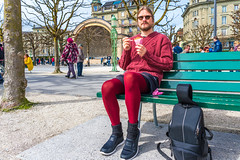 Luzern/Schweiz 2. April 2018 (karlheinz klingbeil) Tags: strumpfhose stricken tights switzerland city knitting mode knitwear suisse collant schweiz manninstrumpfhose stadt gestricktes knit menintights luzern fashion ch
