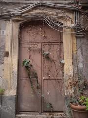 Porta chiusa (Aellevì) Tags: portone chiuso rampicante abbandono r fili pendente