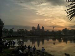 Angkor Wat Sunrise (S Clark) Tags: angkorwat cambodia temple sunrise samsungmobile sun asia khmer khmerempire buddhist buddhisttemple magicalmoments