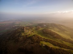 Scrabo (sav74) Tags: misty landscape scenic aerial drone lightroommobile djiphantom3advanced uk ulster northernireland countydown newtownards scrabotower golfcourse scrabo