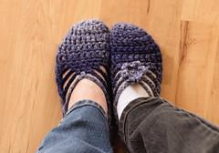 Mom & Daughter Ballet Slippers (friesen4) Tags: slipper slippers crochet ballet