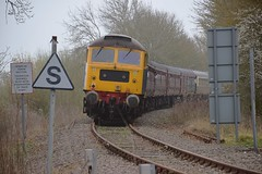 The Mayflower Tour is now on the Aldburgh Branch, enroute to Sizewell, with 47580 trailing on the rear at Saxmundham Junction, 37669 on the front. Charity Railtour 15 04 2018 (pnb511) Tags: eastsuffolkline leiston saxmundham sizewell suffolk diesel locomotives railway people train engine loco locomotive aldeburghbranch class47