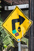 The best plan (A Different Perspective) Tags: bali kerobokan arrow bent black diamond right sign sticker text worn yellow