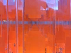 The infinite plane (jfingas) Tags: perspective street rideau canada ottawa lighting plane installation art orange
