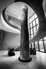 Curved Architecture (Wits End Photography) Tags: stairs color winter season artmuseum city architecture column monochrome grey gray bw black blackwhite blackandwhite flight staircase steps treads white