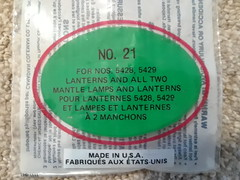 Coleman Canada Mantles (Mike Leavenworth) Tags: coleman 220f lantern canada mantle