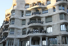 Barcelona - Sand Castle (Caroline Forest Images) Tags: spain barcelona catalunya travel europe city cityscape architecture passeigdegracia gaudi antoniogaudi lapedrera casamilà