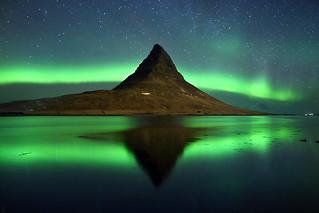 Magic night at Kirkjufell mount