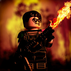 The Comedian Lights his Cigar (jezbags) Tags: comedian lights cigar watchmen lego legos toy toys jeffrey dean morgan dc legodc dclego macro macrophotography macrodreams macrolego canon canon80d 80d 100mm closeup upclose