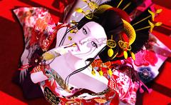 yuujo (prostitute) (kyoka jun) Tags: japanese prostitute silvery k slipon kimono tukinowaguma kocho hair boildegg andika catharsis03 bento posepack wabanana mouth yellow gacha sl secondlife wa