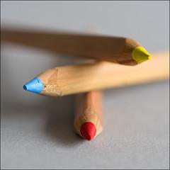 POTLODEN 01F (BAUWENS RENE) Tags: potlood pencil crayon macro nikon d750 105mm kleuren couleurs colors