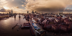 Unicorn - Explored (Photo Lab by Ross Farnham) Tags: dji mavic air london thames landscape golden hour rainbow city aerial