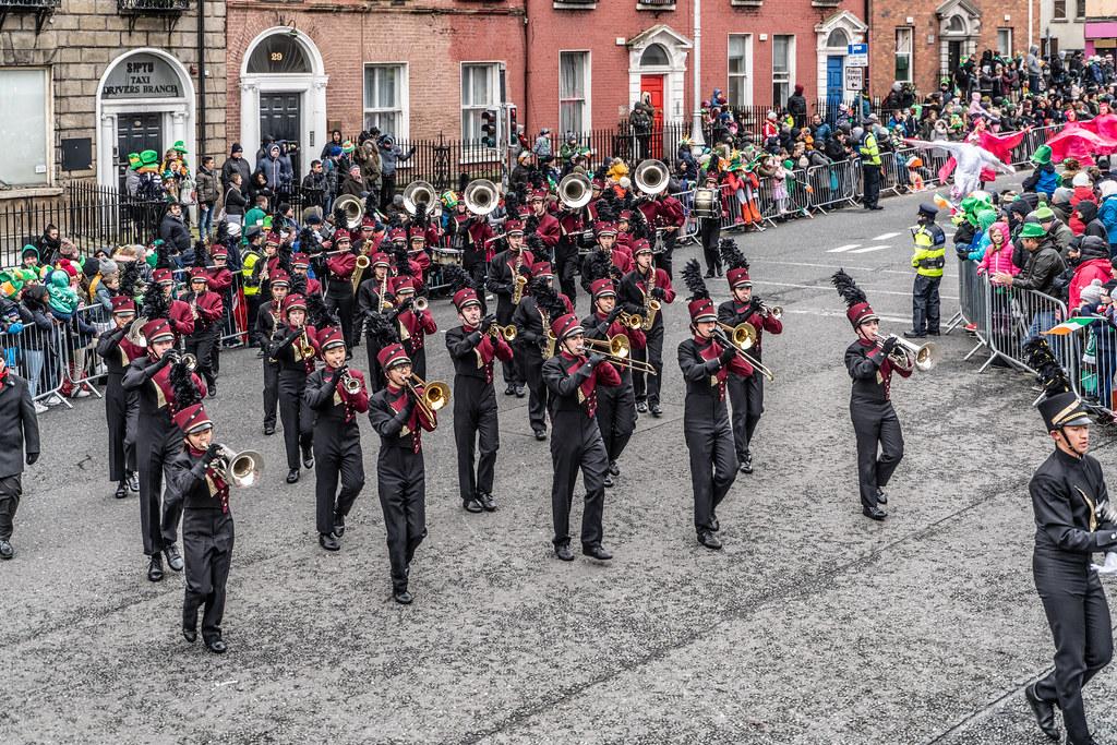 La Cañada High School Marching Spartans[ Patricks Day Parade In Dublin 2018]-137613