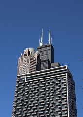 Blue Sky Mining (hrc_oakpark) Tags: searstower 225wvanburen 225wrandolph loop chicago cook il