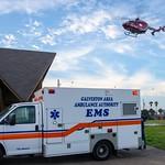 Memorial Hermann Life Flight 5 and Galveston County Health District EMS Medic 4 on a call in Jamaica Beach, Texas. thumbnail