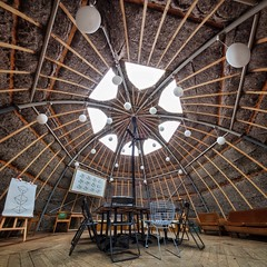 Out of the Box (Paul Brouns) Tags: 11mm blackstone irix metaalkathedraal utrecht meeting space studio location event architecture interior tent dome square