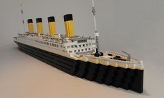 Titanic (final shot revised) (jazzlarsen) Tags: rmstitanic titanic legotitanic lego oceanliner boat ship vessel thomasandrews whitestarline belfast southampton newyork iceberg steamship