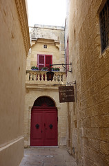 Mdina (sometimesong) Tags: malta 2018 sometimesong mdina walledcity alley door architecture building wall window sign shutters