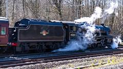 45212 Winchfield 05 April 2016 (8) (BaggieWeave) Tags: winchfield hampshire southwestmainline lswr black5 blackfive 45212 460 cathedralsexpress steam steamengine steamlocomotive steamtrain