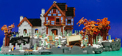 Heroica Snowed Inn 01 (cjedwards47) Tags: lego moc heroica game advancedheroica castle inn zombie zombies snow winter microscale
