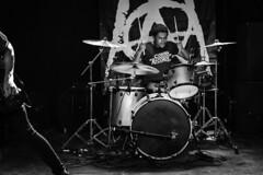 Grade 2, Talking Heads 08-04-2018 22 (Matt_Rayner) Tags: grade2 punk talkingheadssouthampton live concert jacobhull drummer monochrome