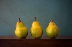 Three Pears... (glendamaree) Tags: fruit pear stilllife highiso macro