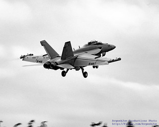 Rising Growler Under Overcast Skies in Black and White