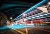 Cheltenham Road, Bristol, UK (KSAG Photography) Tags: lighttrails longexposure night nightphotography urban city wideangle nikon march 2018 bristol uk unitedkingdom england britain europe bridge street road