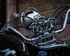 Stylish reflections (joern_ribu) Tags: altstadt heidelberg zweirad motorrad motorbike bikers reflections