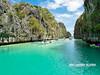 how the large lagoon inside is.... (n_dangthuy) Tags: biglagoon elnido palawan philippines rock mountain bluesky bluesea clearwater boats olympustg4 seascape