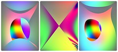 triptychon_001 (oxyrhynchos - OLOliuqui) Tags: triptych abstract gimp qbist colour digital illustration