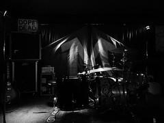 due batterie un basso e una chitarra (fotomie2009) Tags: batteria drum instrument strumento musicale bn bw monocromo monochrome monsters band musical group live music concert performance stage palco raindogs house savona italy italia