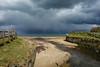 Mouth of the Crawfordsburn River (Eskling) Tags: crawfordsburn northern ireland beach river sea storm shower hailsky dark clouds threatening