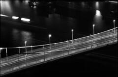 the bridge (Arpadkoos) Tags: thebridge bridge light ship duna river budapest bulb exa exa2 fortepan night