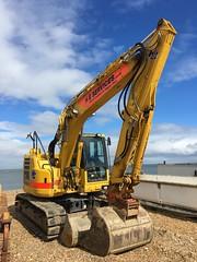 Komatsu PC138US excavator (beforeyoureyes) Tags: seaside excavator beach uk kent whitstable pc138us komatsu