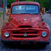 Hank's Harvester (MPnormaleye) Tags: headlights headlamps grille automobile auto truck antique junker old rusted utata lensbaby 35mm seeinanewway