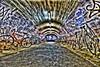 Shibuya_Parking lot (ok_ntm) Tags: hdr bicycle night tokyo tunnel graffiti japan street road