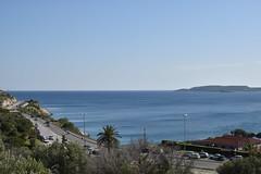 DSC_1466 (mikebsnaps) Tags: vouliagmeni athens greece summer sea sun beach trees road coast green cars view mountain island nikon d5500 sky horizon lake