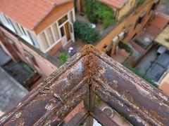 Una terraza en Roma (Micheo) Tags: rusty oxido oxidado baranda balcones terrazas vistas views roma italia rome italy hotel strange bokeh