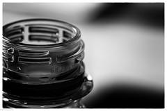 plastic (fhenkemeyer) Tags: hmm macromonday plastic bw bottle