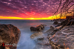 Lake Vista (andrewslaterphoto) Tags: andrewslaterphotography boulder branch clouds greatlakes lakemichigan landscape nature oakcreek outdoors rocks southpoint sunrise water waves wisconsin unitedstates us canon 5dmarkiii discoverwisconsin travelwisconsin