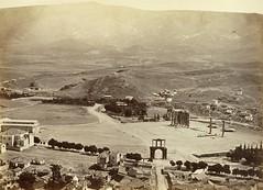 Θέα ανατολικά της Ακρόπολης, από το Ολυμπιείο ως τον Υμηττό. (Giannis Giannakitsas) Tags: αθηνα athens athen greece grece griechenland 19th century 19οσ ολυμπιειο μωραϊτησ πετροσ moraites petros