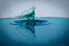 splash-5 (Andreas Stamm) Tags: splash drop tropfen tat macro makro sculpture wave wellen wasser water highspeed reflection spiegelung green blue liquid