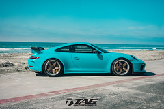 991.2 GT3 on HRE C105 (TAGMotorsports) Tags: tag tagmotorsports hre wheels techart 9912 c105 miami blue porsche gt3 911 991 beach car euro german