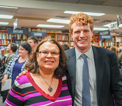2018.03.20 Sarah McBride and Rep Joe Kennedy, Politics and Prose, Washington, DC USA 4127