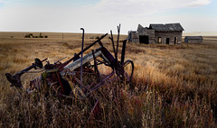 Rural landscape. (Bernard Spragg) Tags: rural country landscapes ruins decay alberta lumix rustic farm outback